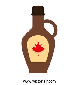 Canadian maple syrup of happy canada day vector design