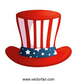 Isolated usa hat vector design