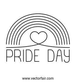 Isolated rainbow and pride day vector design