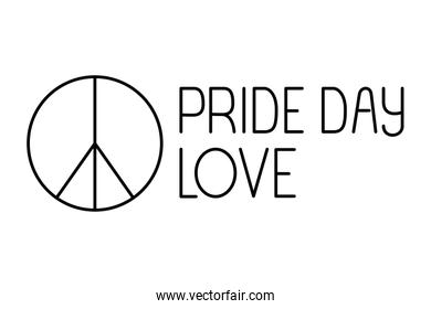 Isolated peace love and pride day vector design