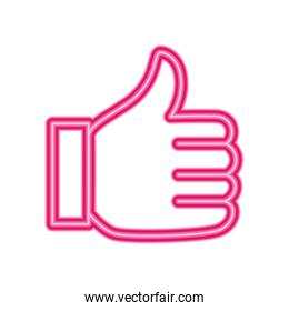 Isolated thumb up vector design