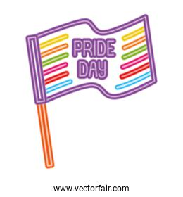 Isolated lgtbi flag and pride day icon