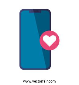 Isolated smartphone and heart icon vector design