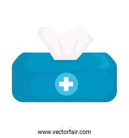 Isolated tissues box vector design
