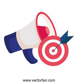 Isolated target and megaphone vector design