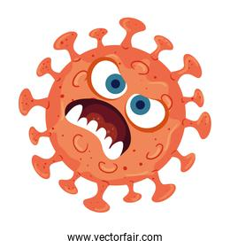 Covid 19 virus cartoon vector design