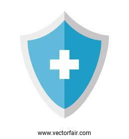 medical shield with cross vector design
