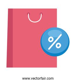 shopping bag and sale icon vector design