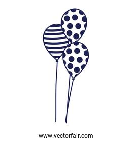 balloons decoration party celebration line style icon