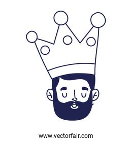 fathers day, face man with character celebration isolated icon