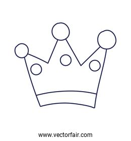 crown monarchy royal hierarchy king queen isolated design icon