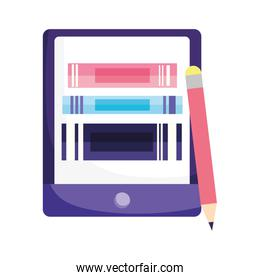 online education smartphone ebooks and pencil study