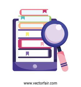 online education smartphone ebooks literature and magnifier