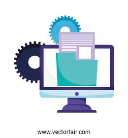 online education computer folder file data information web