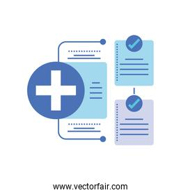 template healthcare infographic, process diagram