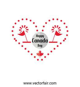 happy Canada day with firework, national holiday