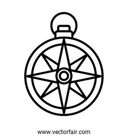 compass guide line style icon