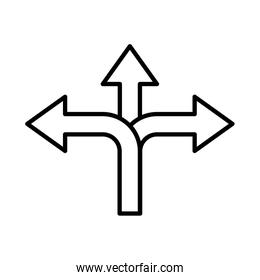 left and right arrows navigations guide line style