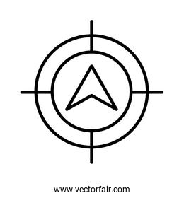 target with compass guide line style