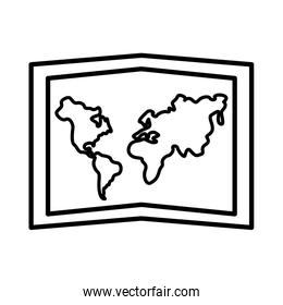 paper map line style icon
