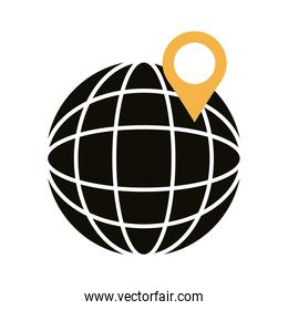 pin pointer location in sphere line style