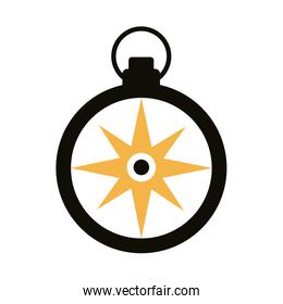 compass guide silhouette style icon