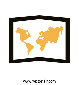 paper map silhouette style icon