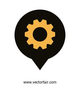 pin pointer locationwith gear line style