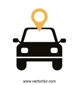 car with pin pointer location line style