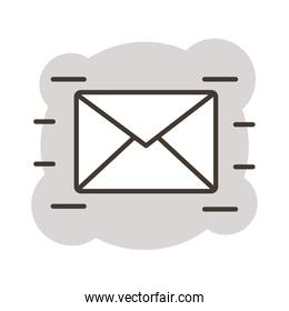 envelope mail line style icon