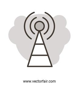 antena communication online line style icon