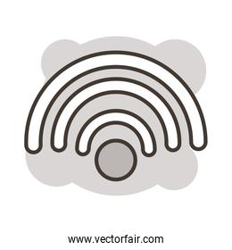 wifi waves signal line style icon