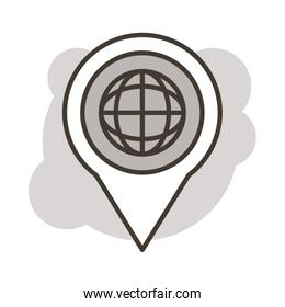 pin location with sphere browser line style