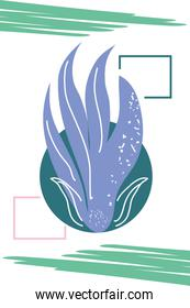 abstract design with nature inspired and abstract shapes