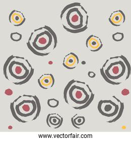 abstract background, drawn with various shapes and doodle objects