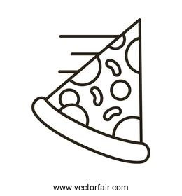 pizza portion line style icon