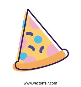 pizza portion line and fill style icon