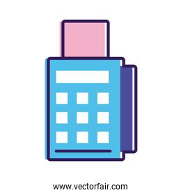 voucher machine line and fill style icon