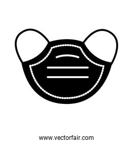 face mask accessory silhouette style