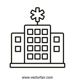 hospital building line style icon