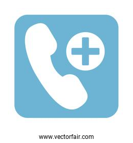 telephone with medical cross line style