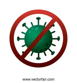 stop covid19 virus particle degradient style