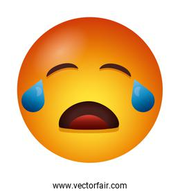 crying emoji face degradient style icon