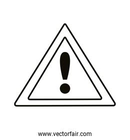 alert triangle signal line style icon