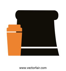 food paper bag silhouette style icon