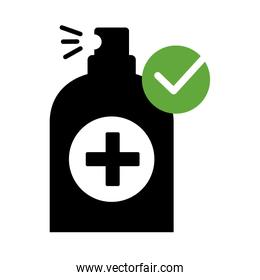 spray bottle medical product silhouette style