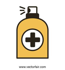 spray bottle medical product line duo color style