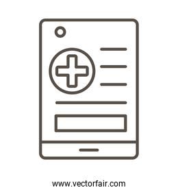 medical order paper line style icon