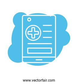 medical order paper block style icon