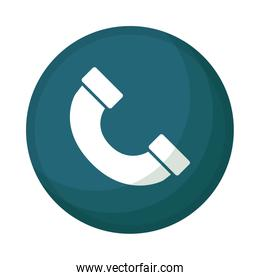 telephone service call button isolated icon